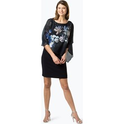 f5aab63e76f9 Sukienka granatowa Vera Mont Collection prosta z długim rękawem na bal midi