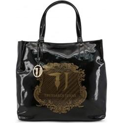 2dd69a1ac9129 Shopper bag Trussardi bez dodatków elegancka na ramię
