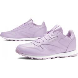 46b2a58a Reebok buty sportowe damskie do biegania na płaskiej podeszwie ze skóry  sznurowane gładkie