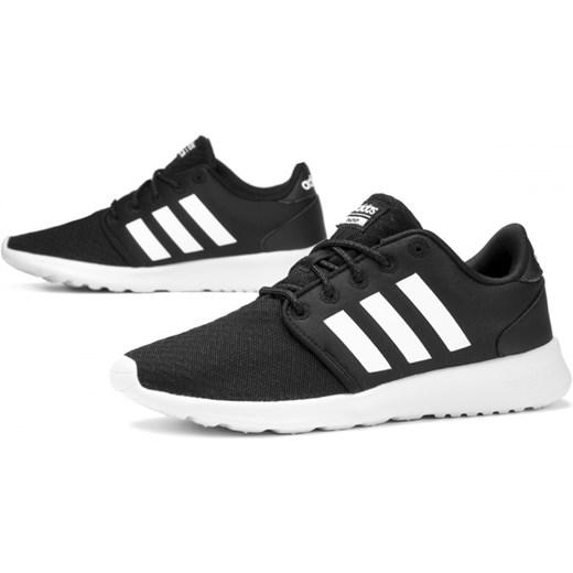 80a6049a Buty sportowe damskie Adidas cloudfoam czarne sznurowane w Domodi