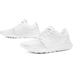 4c5a7087 Buty sportowe damskie Adidas do biegania cloudfoam na płaskiej podeszwie  gładkie