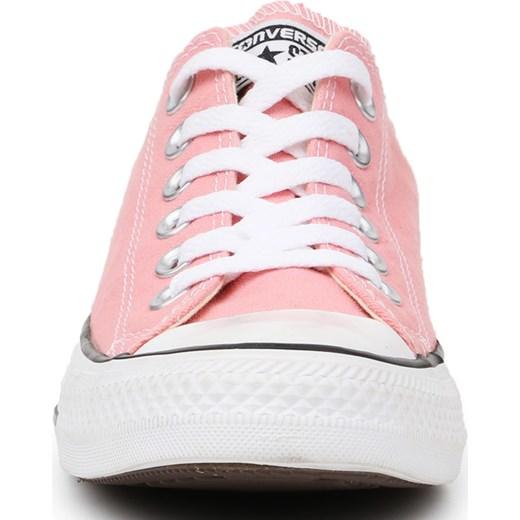 Trampki damskie Converse różowe wiązane płaskie gładkie