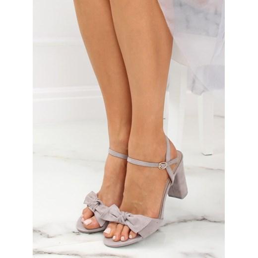 Niebieskie sandały damskie na słupku Sweet Honey Obuwie