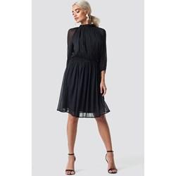 edb2f58644 Sukienka czarna Na-kd Boho oversize owa z długim rękawem luźna