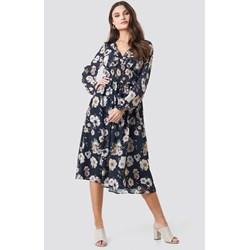 94c1de70 Sukienka Na-kd Boho z długim rękawem prosta na spacer