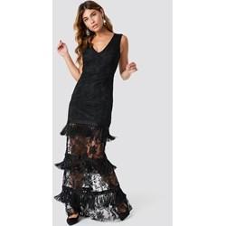1aee40f778 Trendyol sukienka czarna prosta na karnawał maxi bez rękawów
