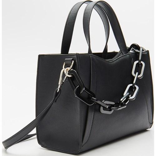 47e16a384cc1f House shopper bag z breloczkiem średnia matowa elegancka na ramię w ...