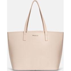 4a348c381f4b0 Shopper bag Kazar mieszcząca a7 na ramię skórzana elegancka matowa