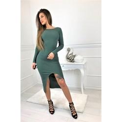 0e0d3f2358 Sukienka midi bez wzorów