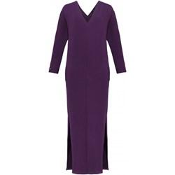 55d3b0fb0e Sukienka Madnezz z długimi rękawami z wiskozy fioletowa midi