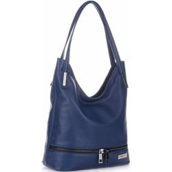 c673c8dc59345 Shopper bag niebieska Vittoria Gotti elegancka