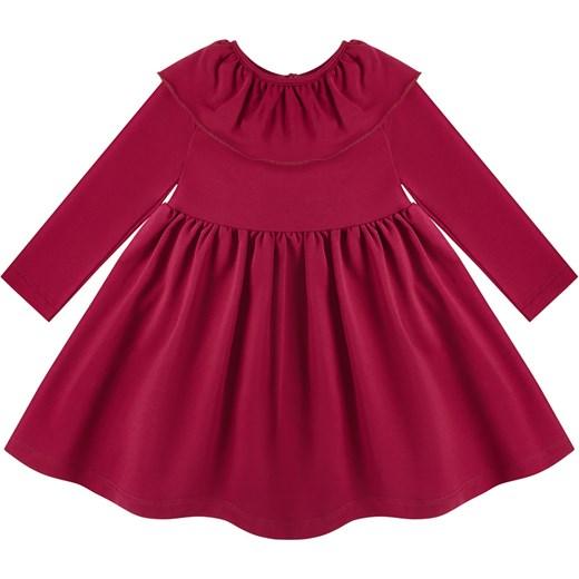 8d5c10d49e Sukienka z szerokim kołnierzem czerwona Tuszyte 98