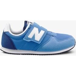 fb68f1ab Niebieskie buty sportowe damskie New Balance sneakersy płaskie gładkie na  rzepy