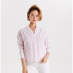 5bbd33b4a6 Bluzka damska Cropp z dekoltem v różowa z długim rękawem