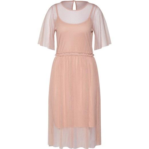 6f2390301 Vero Moda sukienka na wesele z krótkim rękawem z okrągłym dekoltem prosta  midi ...