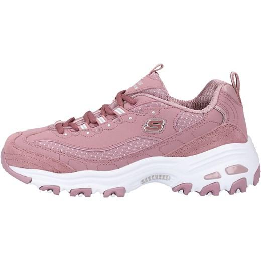 Buty sportowe damskie Skechers bez wzorów na wiosnę