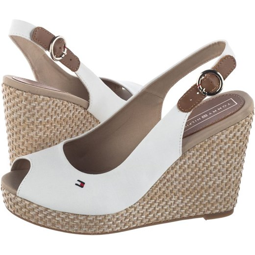 8ce783ab12a60 Sandały Tommy Hilfiger Iconic Elena Basic Sling Back FW0FW04082 121 Whisper  White (TH34-a