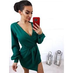 594348b7f4 Sukienka Magmac zielona z długim rękawem