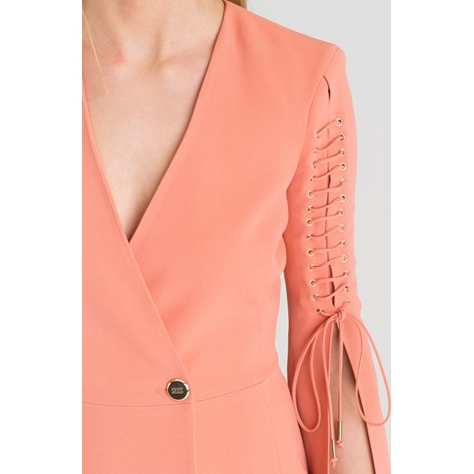 najlepszy Różowa sukienka Elisabetta Franchi z dekoltem v