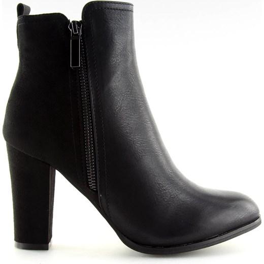 80% ZNIŻKI Högl botki eleganckie na obcasie czarne Buty