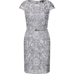 4ac39c4d34 Sukienka Esprit elegancka na spotkanie biznesowe prosta z okrągłym dekoltem  midi