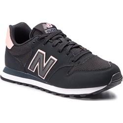 ccf13ad087 Buty sportowe damskie New Balance dla biegaczy gładkie czarne z tworzywa  sztucznego sznurowane ...