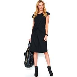 9c7fdb9298 Makadamia sukienka na spacer z okrągłym dekoltem z krótkim rękawem  poliestrowa midi