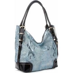 02d002efb76b8 Shopper bag Velina Fabbiano skórzana na ramię lakierowana elegancka duża