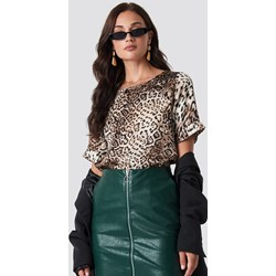 78adfeab9d84cf Brązowa bluzka damska Rut&Circle w zwierzęcy wzór