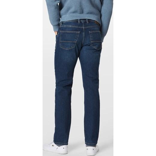 Jeansy męskie Bugatti bez wzorów Odzież Męska XX niebieski Jeansy męskie THVW ZMNIEJSZONE O 50%