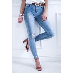 0baf88ac96b39 Jeansy damskie na jesień niebieskie w miejskim stylu