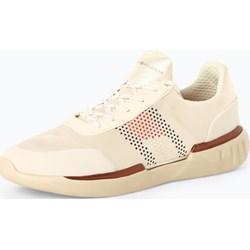 2a0ce8b057cf0 Buty sportowe damskie Tommy Hilfiger casualowe młodzieżowe sznurowane na  płaskiej podeszwie bez wzorów z tkaniny