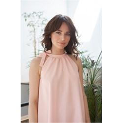 b016d2c428 Sukienka oversize bez rękawów midi elegancka z poliestru bez wzorów