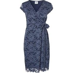 bbd5dd6281 Sukienka ciążowa niebieska Mama Licious