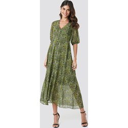 c31840d3e7 Mango sukienka zielona maxi prosta