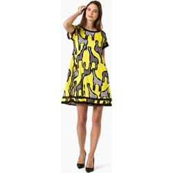 db8bbd8cb904c Sukienka Marc Cain z okrągłym dekoltem na spacer żółta