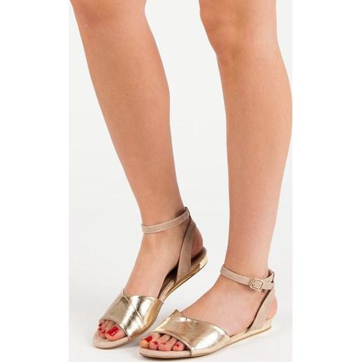 b560dc565c848 CzasNaButy sandały damskie bez wzorów casual na lato płaskie z klamrą ...