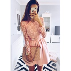 03e8225e00d7 Sukienka Pakuten mini z długim rękawem na spacer rozkloszowana