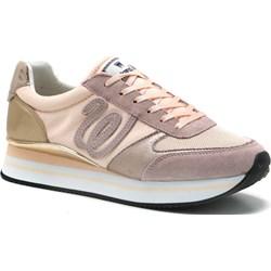 4763e94a04 Buty sportowe damskie Wrangler sneakersy różowe bez wzorów1 sznurowane na  wiosnę