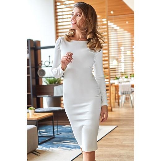 d48fe5a980 Style sukienka biała do pracy w Domodi