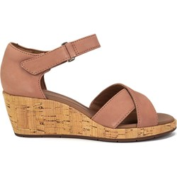 d49dde2542725a Clarks sandały damskie na lato casual skórzane na koturnie