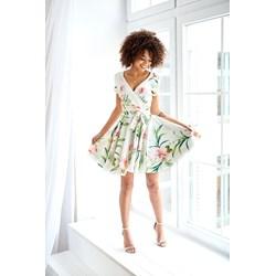 0a859e0c92 Mosquito sukienka z krótkim rękawem kopertowa elegancka midi na spacer