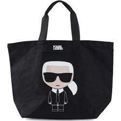 2428c8f7fc10b Shopper bag Karl Lagerfeld na ramię bez dodatków z tkaniny