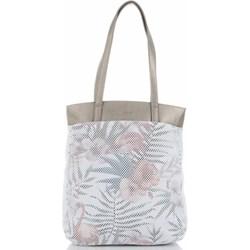 dfdd9e33b2577 Shopper bag David Jones na ramię bez dodatków wakacyjna z nadrukiem