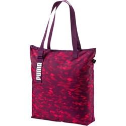 e3515d5fe3f63 Shopper bag Puma czerwona z breloczkiem sportowa duża z nadrukiem