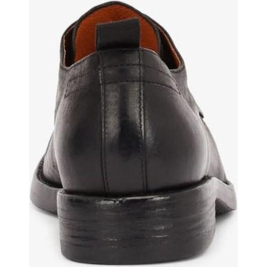 Półbuty męskie czarne Bianco skórzane Buty Męskie MK czarny