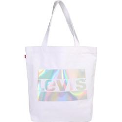 02ac20a271a34 Shopper bag biała Levi's młodzieżowa bez dodatków mieszcząca a8