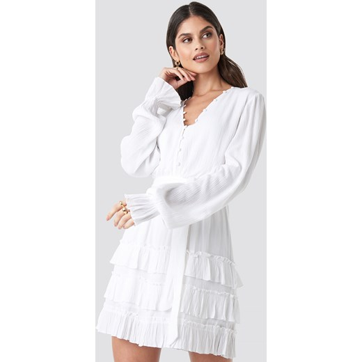 f51586d710 Sukienka NA-KD mini casualowa trapezowa bez wzorów w Domodi