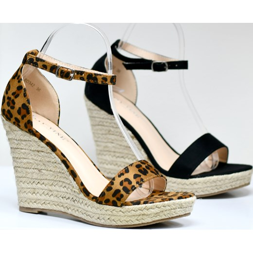 Niebieskie sandały Betler nowe 37 koturna 3cm sandałki buty