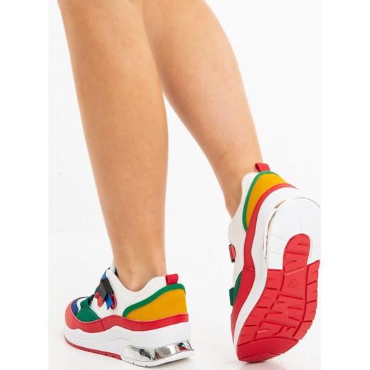 Sneakersy damskie Ugg płaskie młodzieżowe bez zapięcia z tkaniny z nadrukami